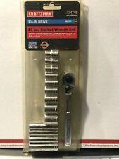 """New listing Craftsman 1/4"""" Dr. 14 Pc. 6 Pt. Socket Wrench Set"""