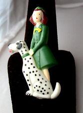 Intermediate Girl Scout FIGURAL PIN DALMATIAN Dog RARE Collector's Gift 1948