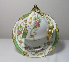 Shelley Cup and Saucer  Green Dubarry 13399