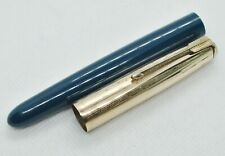 Parker 51 Dark Blue Barrel 12K Gold Cap Fountain Pen For Repair or Spare Parts