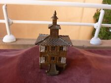 rare tirelire caisse  pagode en bronze 600g