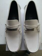 CALVIN KLEIN White Leather Men's Casual Loafers Size 9