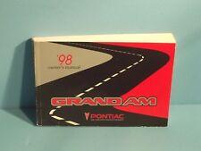 98 1998 Pontiac Grand Am owners manual