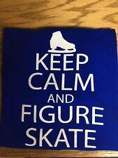 Ice Skating Tshirt Blue Keep CalmSize Medium
