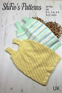 Knitting Pattern for Babies Sleeping Bag, 0 to 12 months,  DK, SKP190