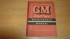 1952 GM DIESEL ENGINE MAINTENANCE MANUAL BOOKLET OEM 186 PGS  SERIES 71  2 CYCLE
