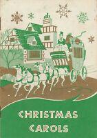 Christmas Carols Trust Company Bank Atlanta Georgia Vintage Songbook Mid Century