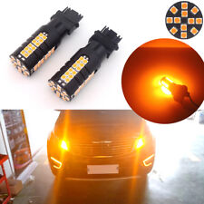 2pcs No Hyper Flash CANBUS Amber 3156 3056 3156K LED Turn Signal Lights Bulbs