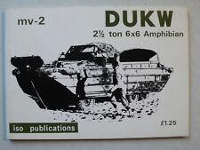 DUKW 2 1/2 ton 6x6 Amphibian - iso publications mv-2 + Konstruktionsplan, 1978