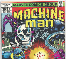 Machine Man #6 The Living Robot Jack Kirby from Sept. 1978 in Fine condition