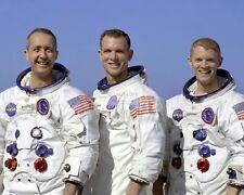 APOLLO 9 CREW IN THEIR SPACE SUITS - 8X10 NASA PHOTO (EP-222)