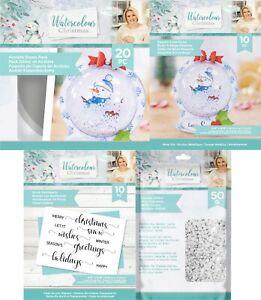 Crafters Companion - Watercolour Christmas Snowglobe SARA SIGNATURE COLLECTION