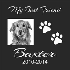 "Personalized Pet Human grave marker Stone Memorial 12"" x 12"" Great Dane Mastiff"