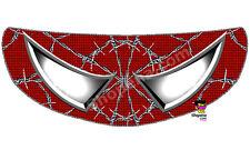 Spiderman Helmet Visor Sticker Wired Web Red Motorcycle Shield Decal Tint Eyes +