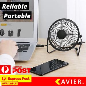 """4''/6"""" Desk Laptop Desktop Fan USB Portable Mini Small Cooling Quiet Table AU"""