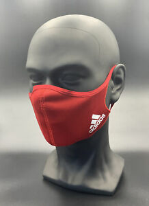 One (1) Red Adidas Face Mask Authentic Size Large Cover