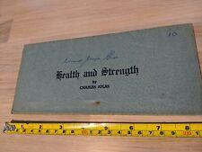 Charles Atlas Lesson 10 - Health and Strength. Original Piece. FREE UK POSTAGE.