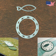 New listing Circle of Fish w Fish Outline Frame Cutting Dies – Sea Ocean Christian Symbol