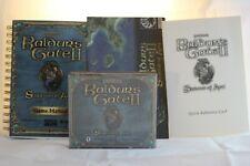 Baldur's Gate II: Shadows of Amn (PC, 2000) Game Manual Map Quick Reference Card