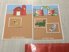 Farm Or Zoo Animals Game Learning Center- 2 Laminated Mats & 33 Cards