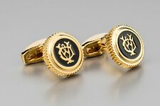 Alfred Dunhill Cufflinks Gold jewelry for men Brass metal Designer clothing