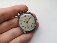 1955 1Mchz Rare Collectible USSR WATCH POBEDA WHITE DIAL  Serviced