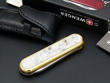Schweizer Taschenmesser WENGER/VICORINOX Lithos Serie, vergoldet, Bianco Sardo