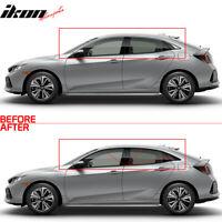 Fits 17-20 Civic Hatchback Window Trim Chrome Delete Vinyl Kit
