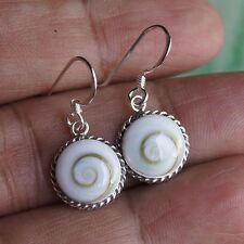 Top Thai Circle Shiva Eye Earring 925 Sterling Silver