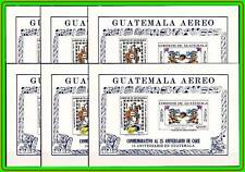 GUATEMALA 1971 AMERICAN RELIEF S/S SC.#C459a x6 MNH PRE-COLUMBIAN INDIANS