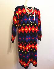 New Women Winter long Sleeve Casual Loose Knitted Sweater Jumper Dress SZ L