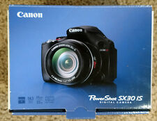Canon Powershot SX30 IS 14.1 MP Digital Camera - Black with original box and acc