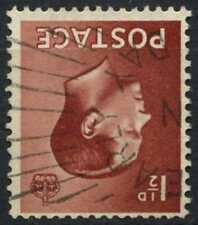 Gb Keviii 1936 Sg#459wi 1.5d Red-Brown Wmk Inverted Used #D81348