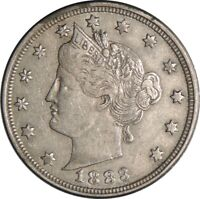 """1883 5C LIBERTY V NICKEL """"WITH CENTS"""" XF DETAILS - LIGHTLY CLEANED  (050721418)"""