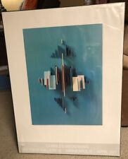 RARE Original Charles BIEDERMAN Art Print Poster Daytons Gallery Abstract 1971