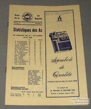 1965-66 AHL Quebec Aces official Program