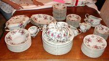 Meito Norleans Bone China  Rosanne Floral Set 75+ pc Vintage MINT photos Ivory