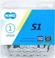 "KMC S1 RB Rust Buster Bike Chain 1/2""x1/8"" 112L 9.3mm Single-Speed BMX Fixed"