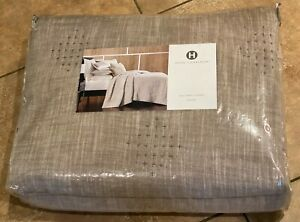 Hotel Collection Pebbled Diamond Cotton FULL / QUEEN Quilted Coverlet