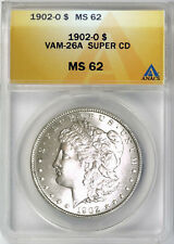 1902 O $1 Morgan Silver Dollar ANACS MS62 VAM 26A Super CD
