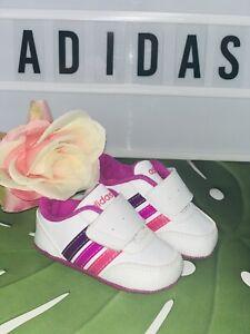 Adidas Neo Schuhe Mädchen Gr.18 Krabbel- Babyschuhe Hausschuhe Top Süß