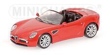 Alfa Romeo 8c Spider 2007 Red 1:64 model Minichamps