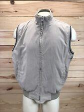 Daniel Cremieux Mens Vest Medium Khaki Twill Mesh Lined Zipper Front Golf B60