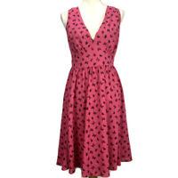 TORRID Women's Hot Pink Butterfly Print Empire Chiffon Skater Dress  Size 12