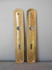 Pair of French Vintage Gilded Door PUSH PLATES FINGER PLATES