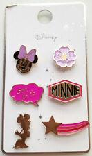"""Minnie Mouse Pins Badges 6pk Disney Official """"Ooh La La"""" BNWT"""