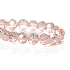25 Crystal Beads - Baby Pink Faceted Glass Beads - 6mm - BD709