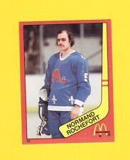 Normand Rochefort Quebec Nordiques Scarce 1983 McDonalds Quebec Hockey Sticker