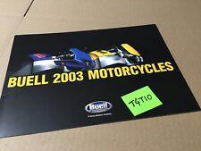 Buell moto 2003 XB9S XB9R Lightning Firebolt  prospectus catalogue brochure