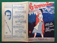 (D68) SPARTITO MUSICALE - LA ROMANINA Micheli/Di Lazzaro (1938) Valzer Romanesco